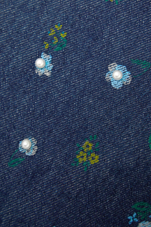 THE Marc Jacobs Mini-jupe en jean à imprimé fleuri