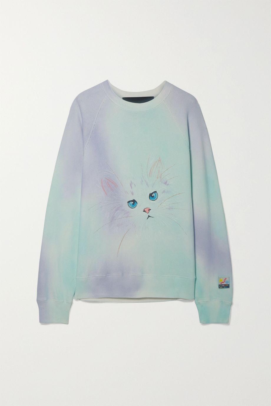 THE Marc Jacobs Printed tie-dyed cotton-terry sweatshirt