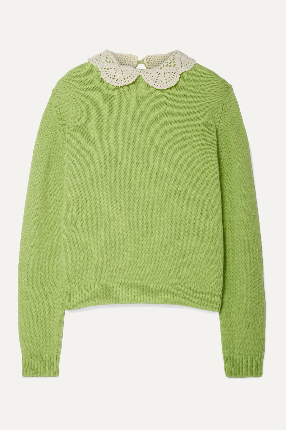 THE Marc Jacobs Crochet-trimmed wool sweater