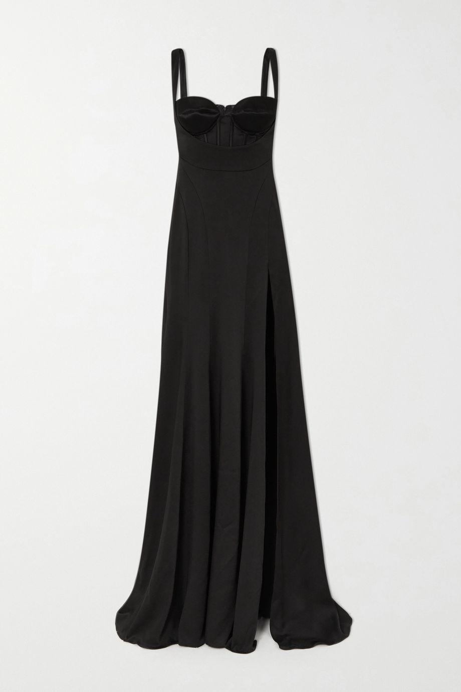 Mugler Satin maxi dress