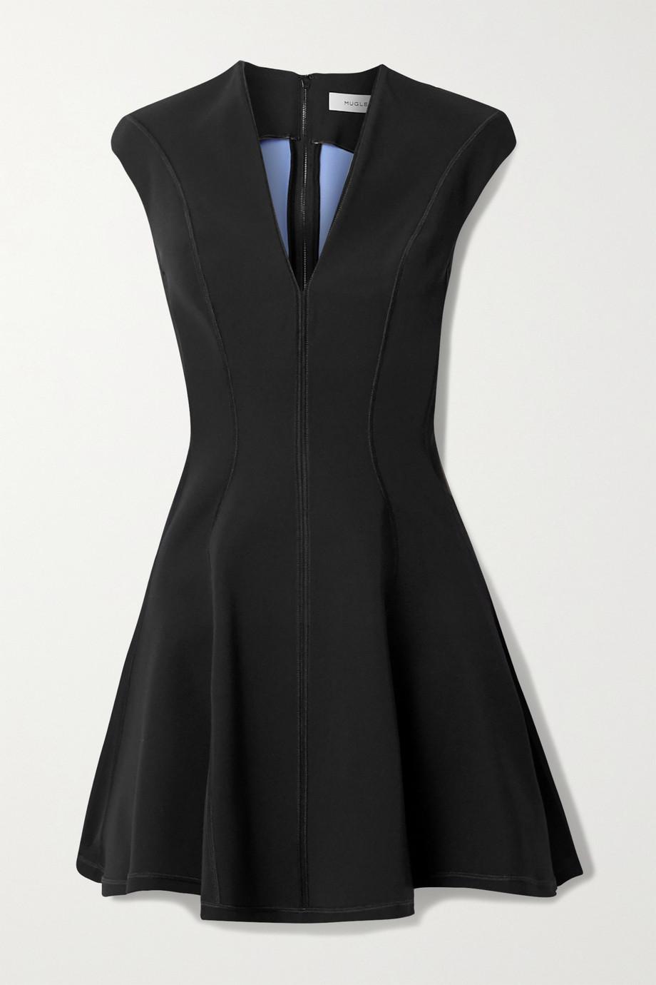Mugler Paneled scuba mini dress
