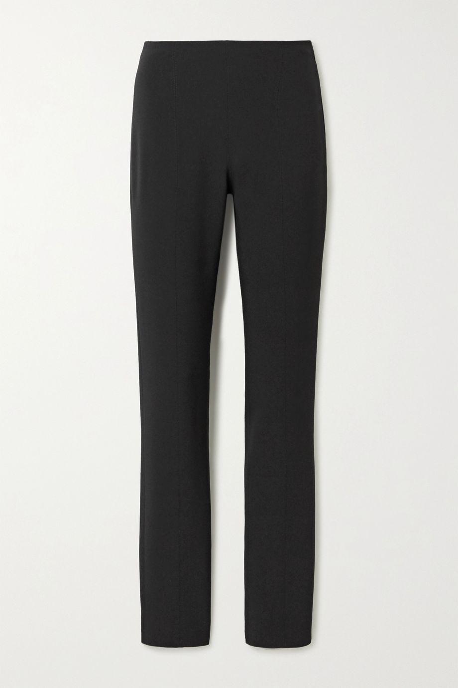 Mugler Stretch-cady slim-fit pants