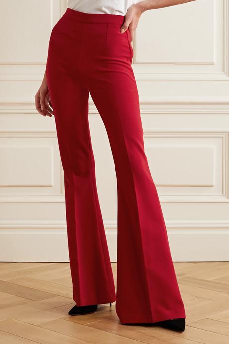 Halluana stretch-crepe flared pants