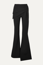 Safiyaa Hope draped stretch-crepe flared pants