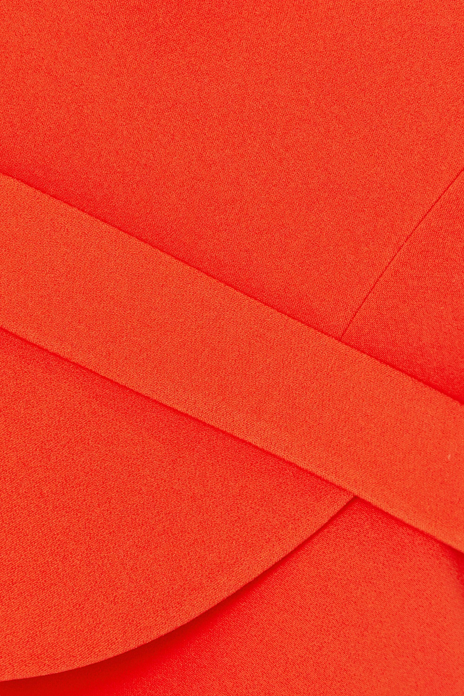 Safiyaa Pilar belted asymmetric stretch-crepe peplum top