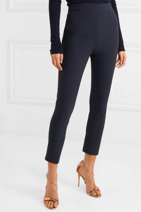 Adrianna cropped skinny crepe pants