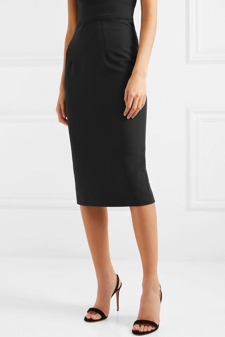 Hokoku stretch-crepe midi skirt