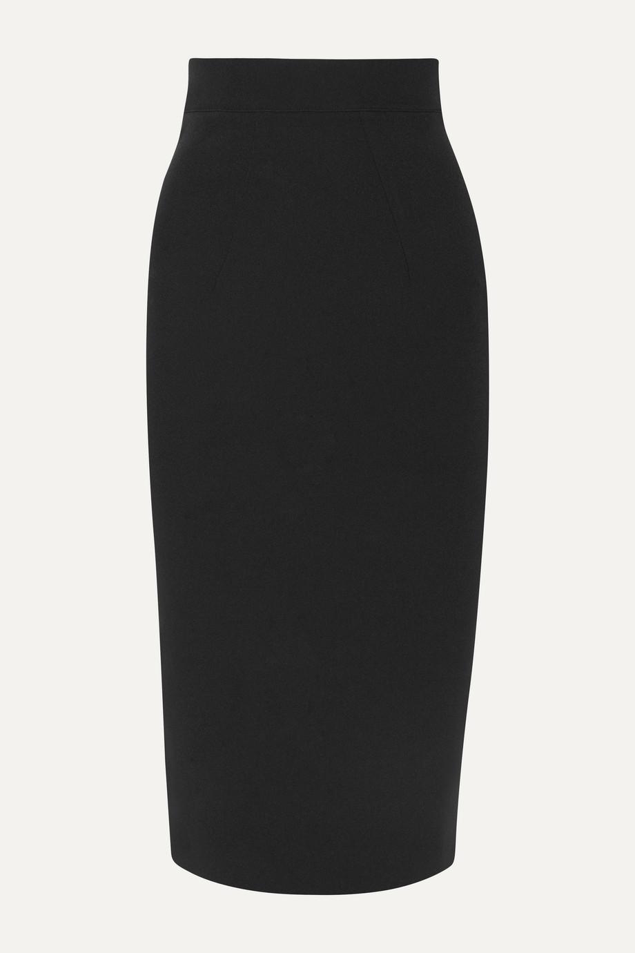 Safiyaa Hokoku stretch-crepe midi skirt