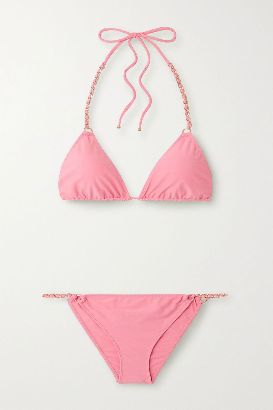 Jonathan Simkhai Embellished triangle bikini