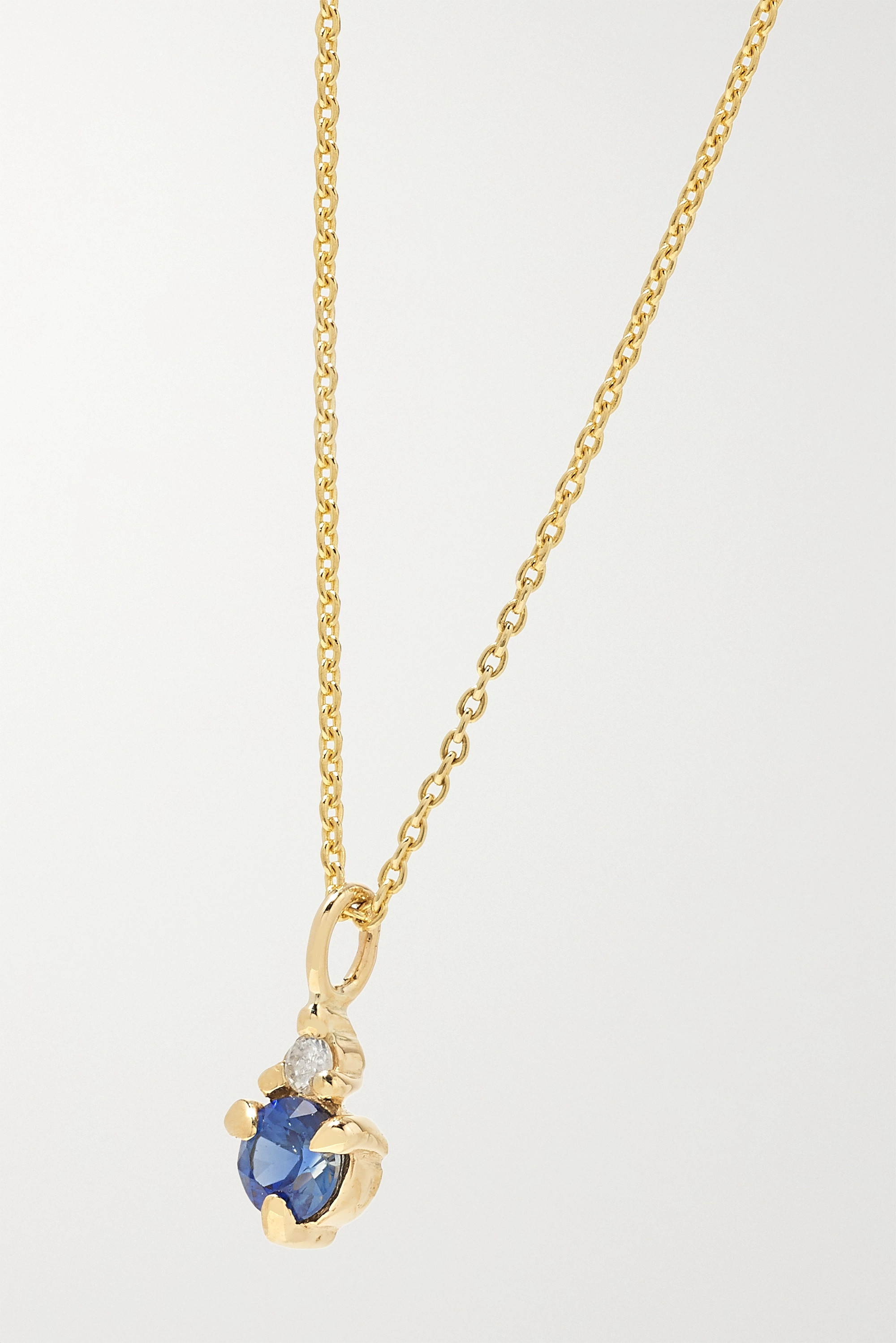 STONE AND STRAND Birthstone gold multi-stone necklace