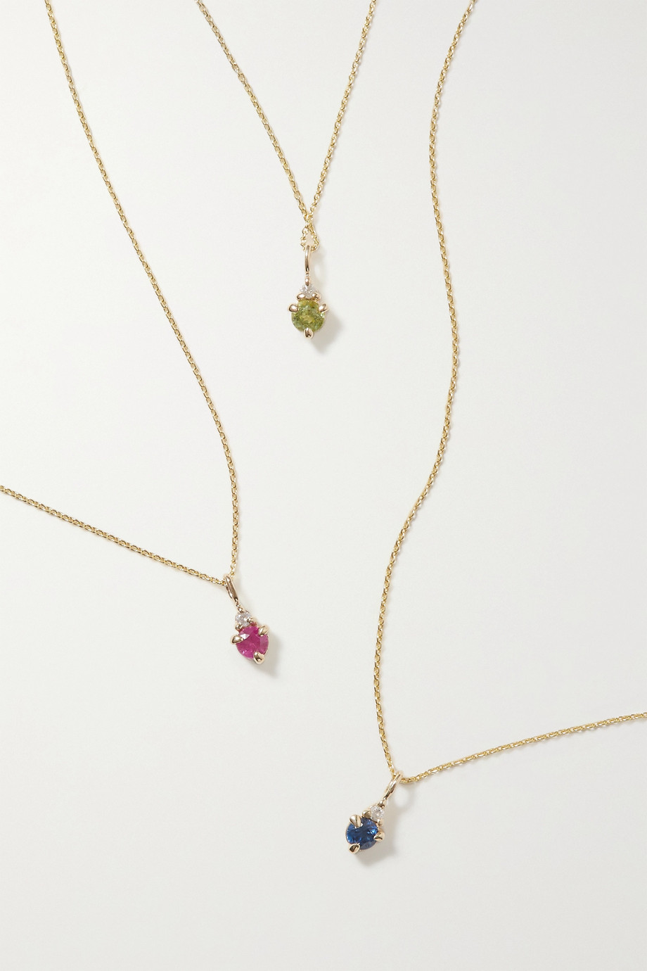 STONE AND STRAND Birthstone 黄金多种宝石项链