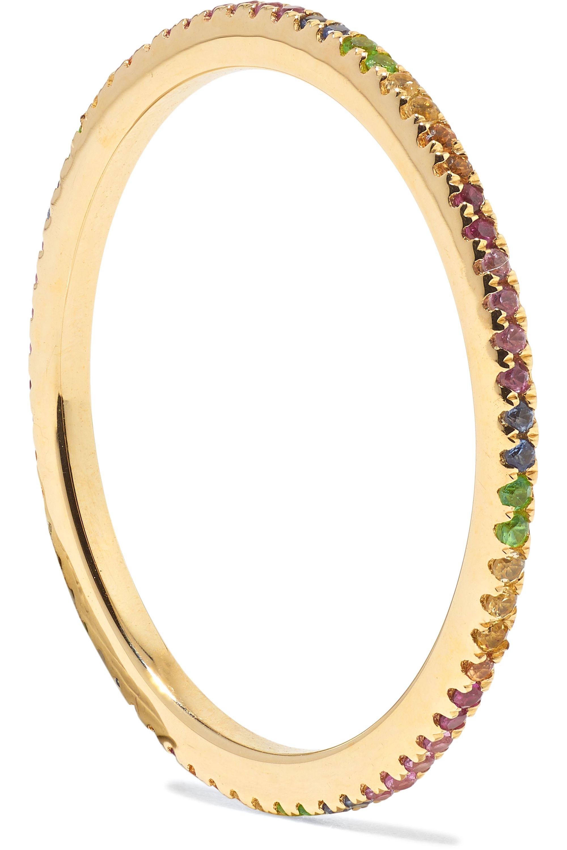 STONE AND STRAND 14-karat gold sapphire eternity ring