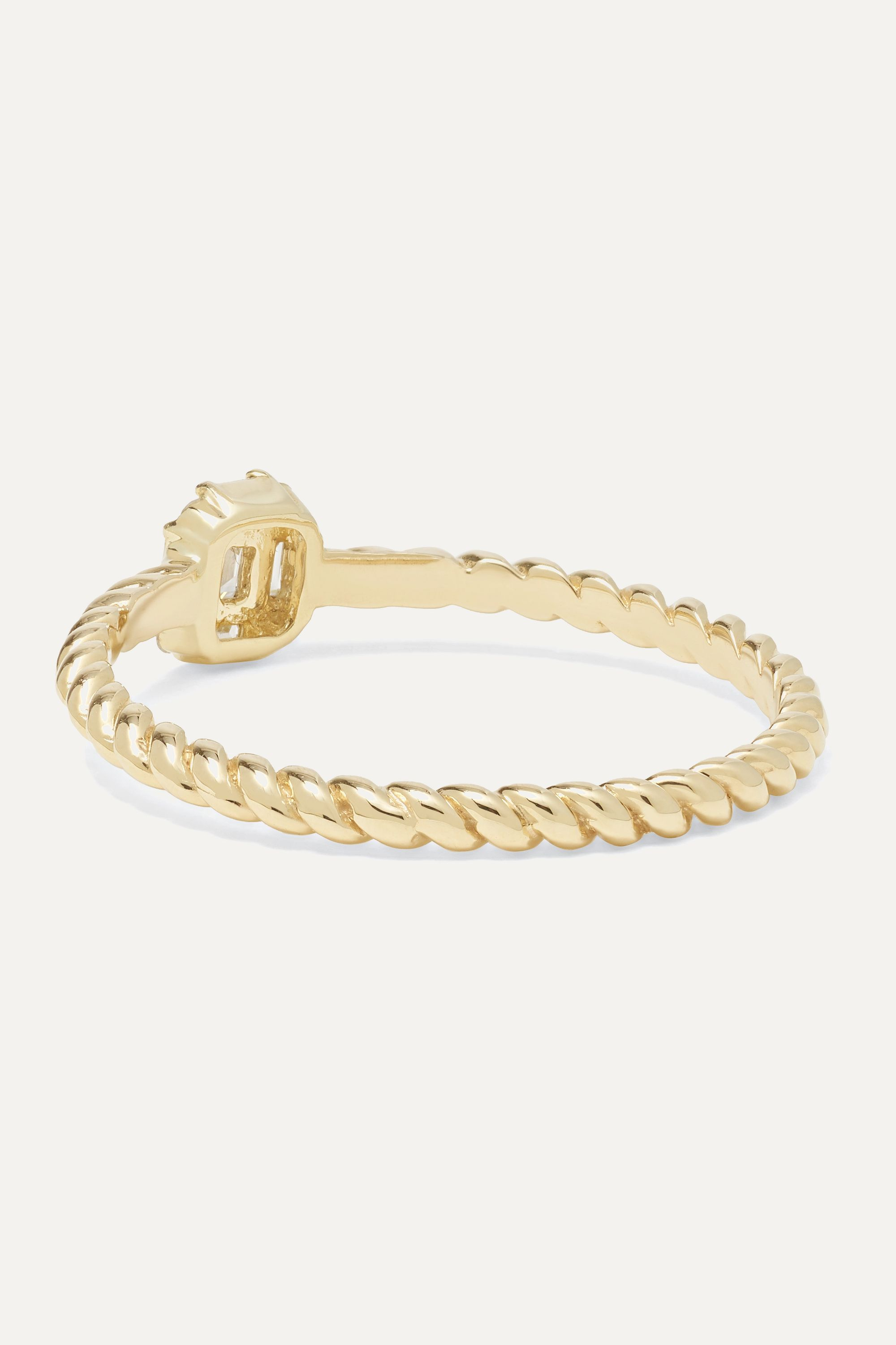 STONE AND STRAND Shield of Strength 14-karat gold diamond ring