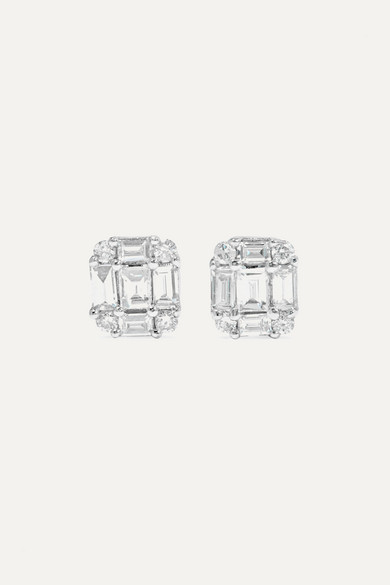 Shield Of Strength Gold Diamond Earrings by Stone And Strand