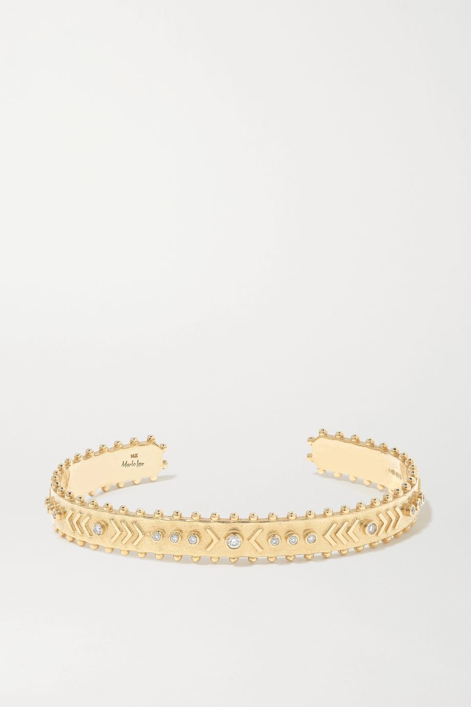 Marlo Laz Arrow Rawa 14-karat gold diamond cuff