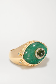 Marlo Laz Eyecon 14-karat gold multi-stone ring