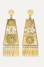 1880s 18-karat yellow and rose gold earrings