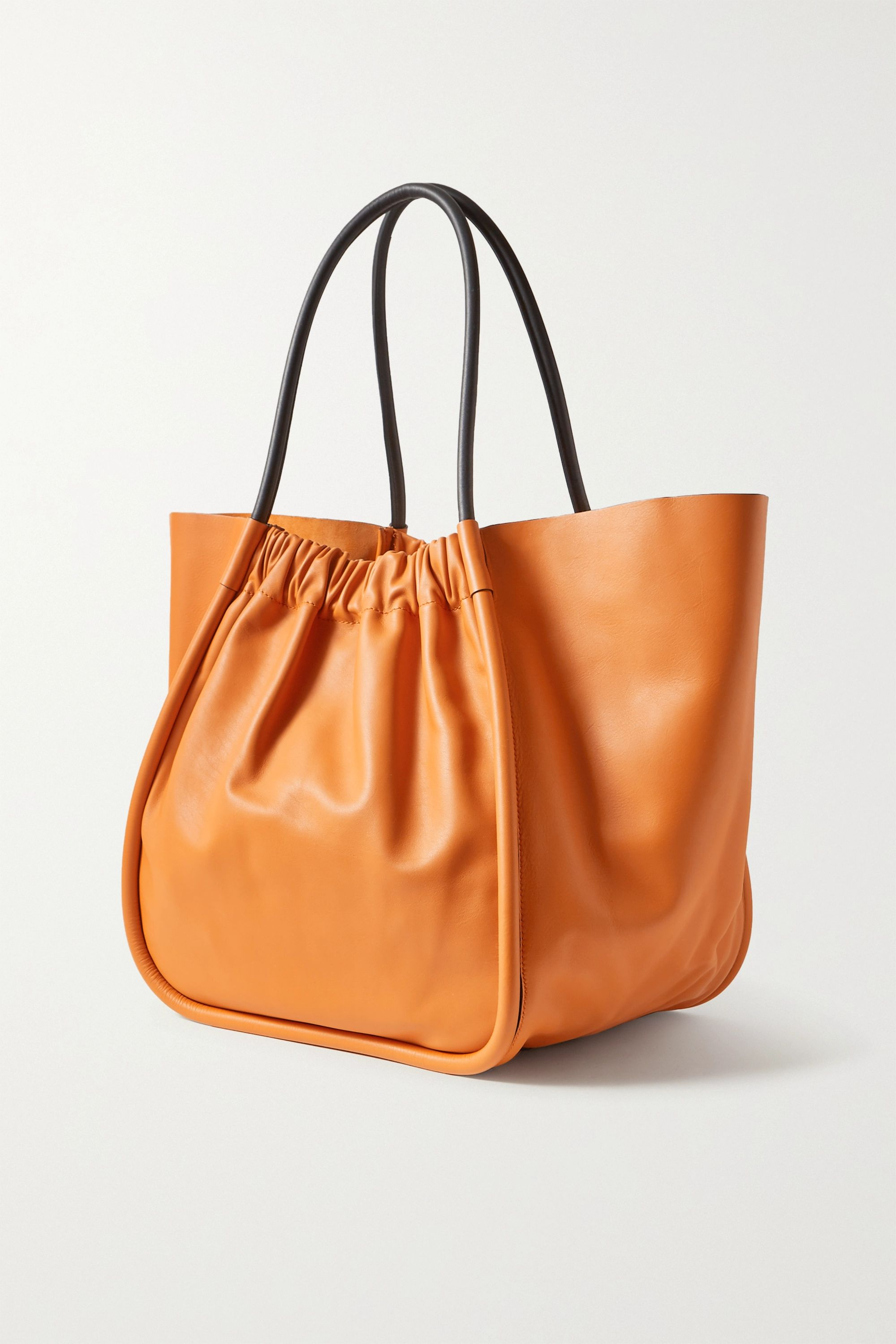 Proenza Schouler XL ruched two-tone leather tote