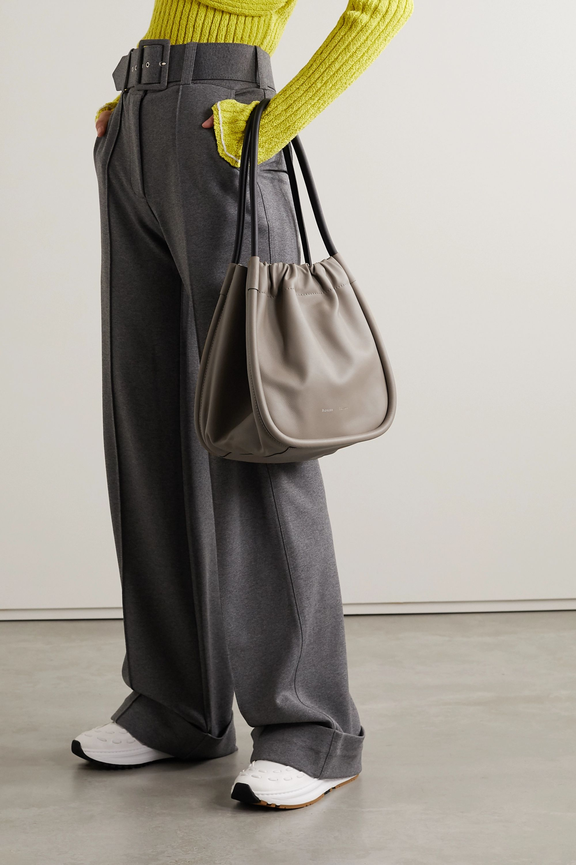 Proenza Schouler Ruched L two-tone leather tote