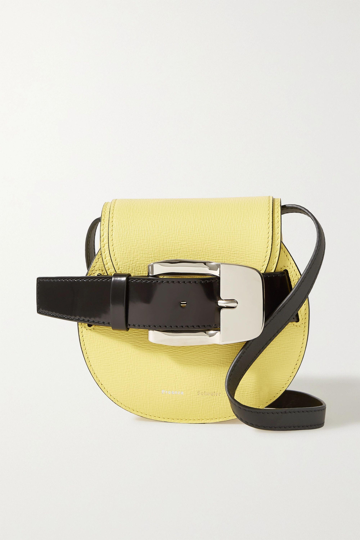 Pastel Yellow Buckle Embellished