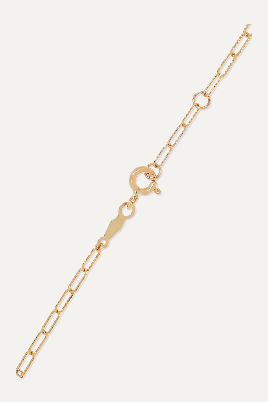 Catbird + NET SUSTAIN Kitten Mask 14-karat gold bracelet