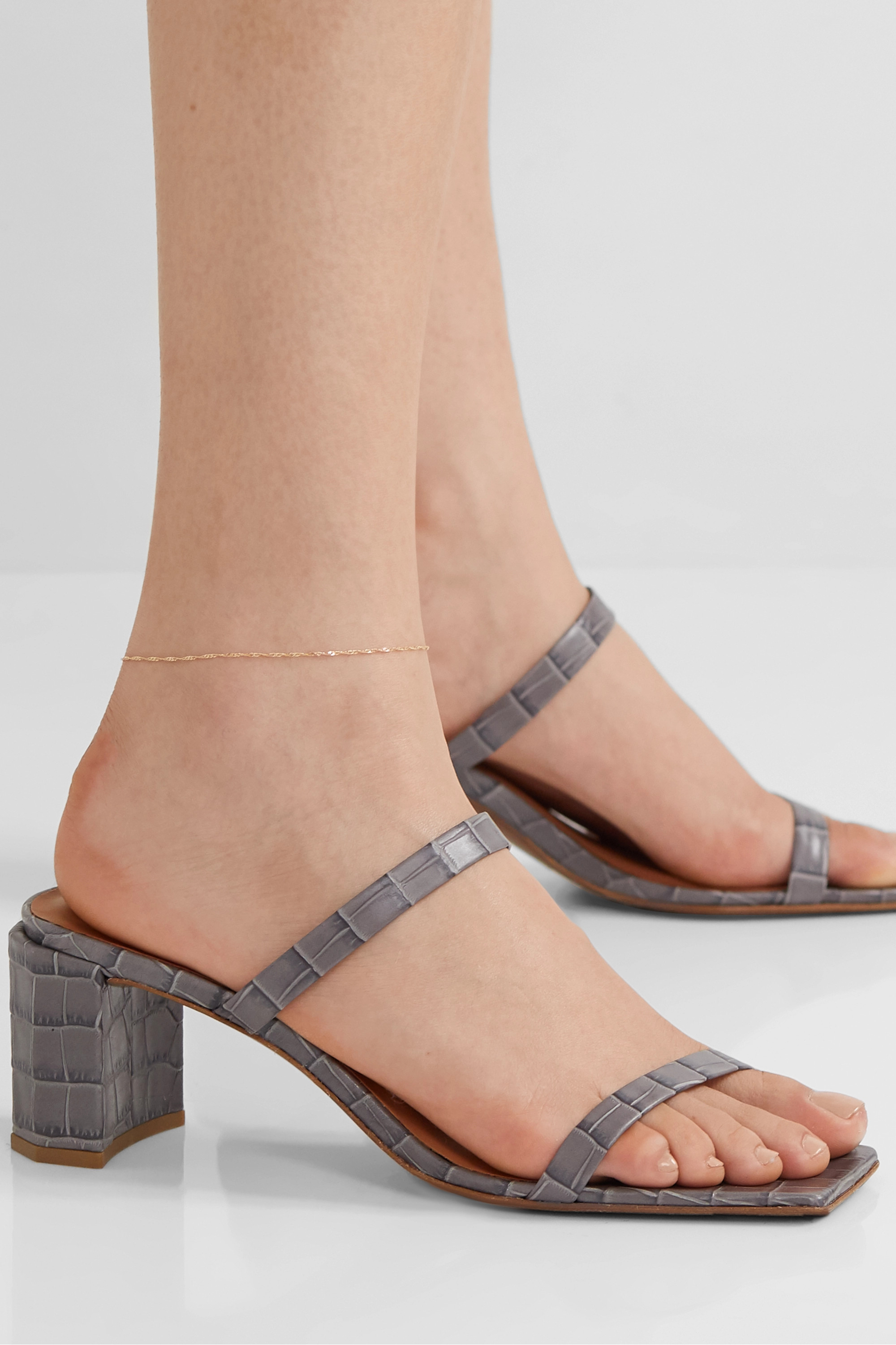 Catbird + NET SUSTAIN Sweet Nothing gold anklet