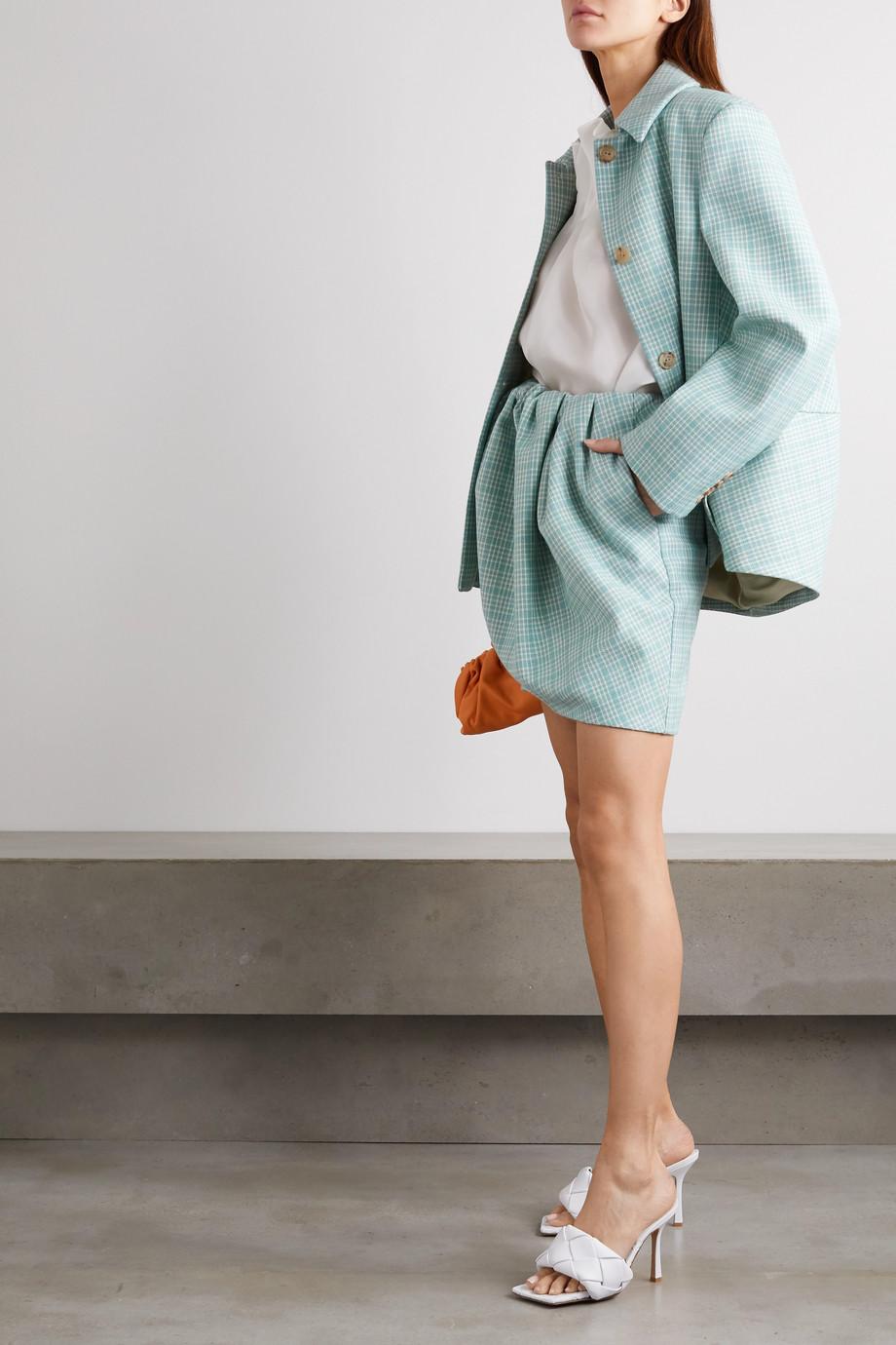 Nina Ricci Veste en tweed de laine à carreaux