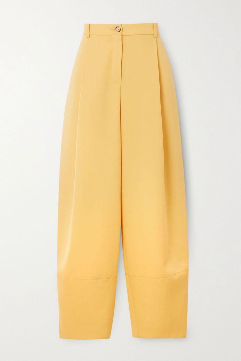 Nina Ricci Pleated grain de poudre wool tapered pants