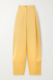 Nina Ricci Pleated grain de poudre wool tapered pants