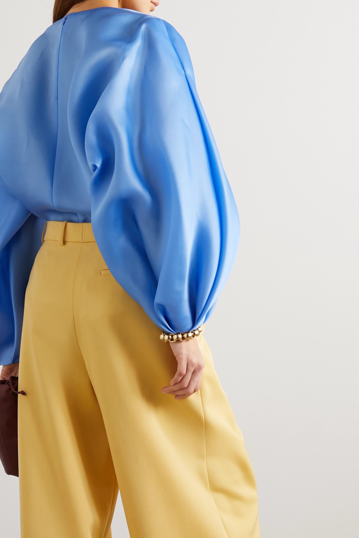 Nina Ricci Silk-satin blouse