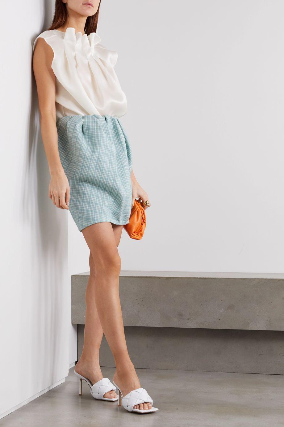 Nina Ricci Ruffled silk-organza blouse