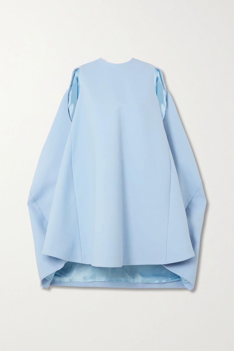 Nina Ricci Mini-robe en laine mélangée à drapés