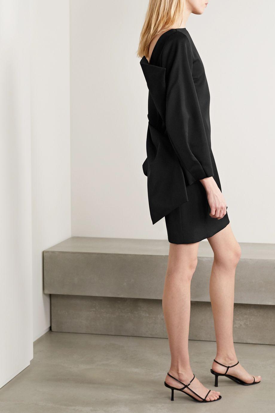 Nina Ricci Bow-embellished grain de poudre wool mini dress