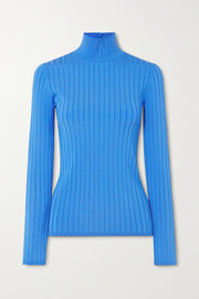 Nina Ricci Embroidered ribbed-knit turtleneck sweater
