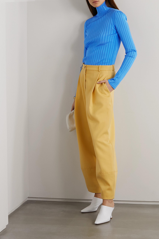Nina Ricci Embroidered ribbed-knit turtleneck sweater