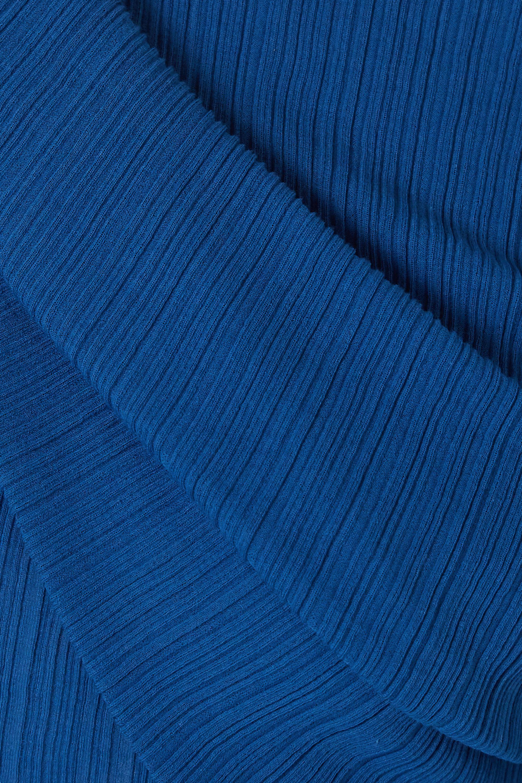 Nina Ricci Off-the-shoulder draped cotton-blend crepon top
