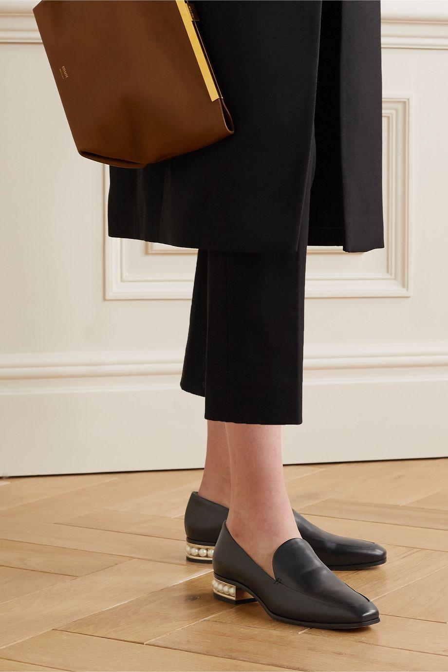 Nicholas Kirkwood Casati faux pearl-embellished leather loafers
