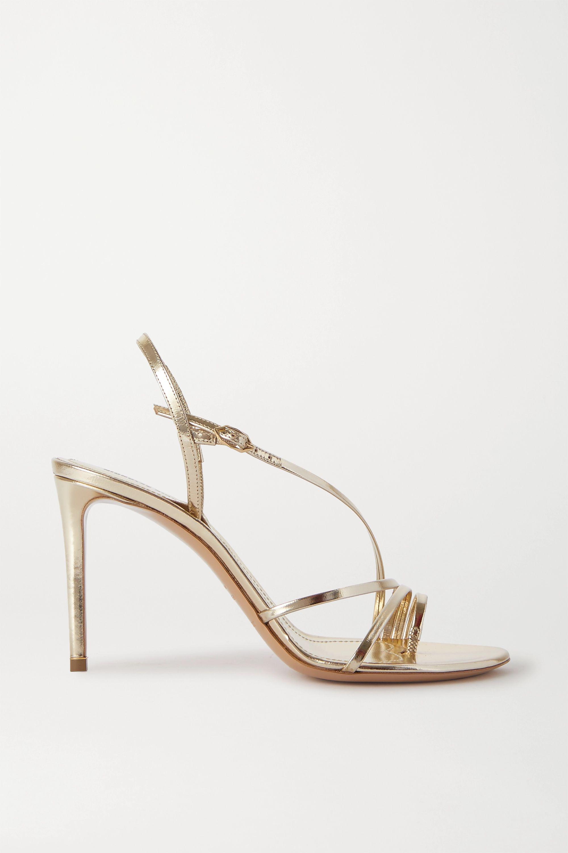 Nicholas Kirkwood Elements metallic leather slingback sandals