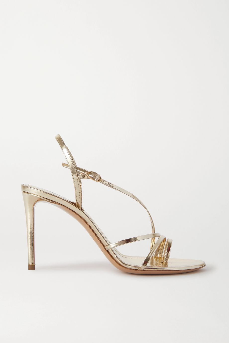 Nicholas Kirkwood Elements metallic leather slingback sandals