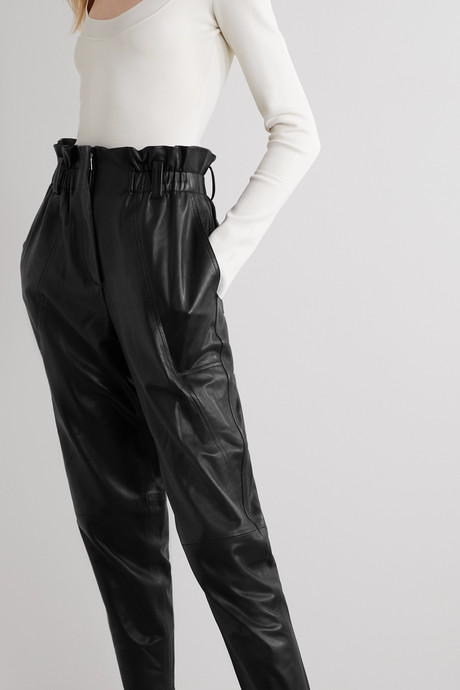 Finhay leather tapered pants