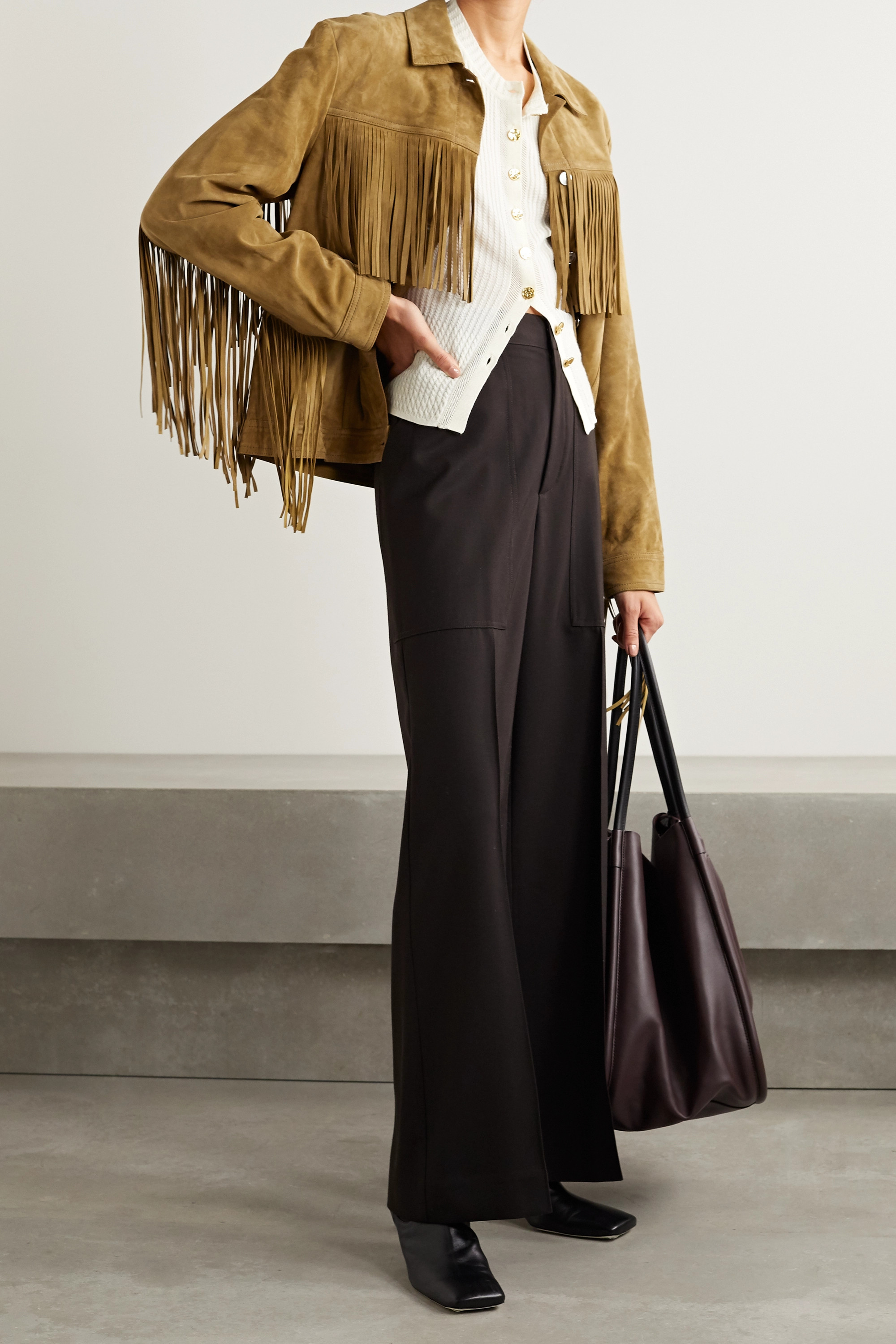 IRO Russell fringed suede jacket