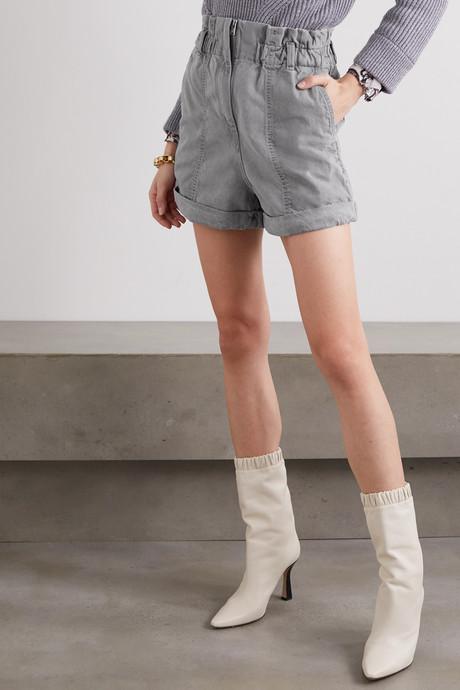 Clichy acid-wash denim shorts