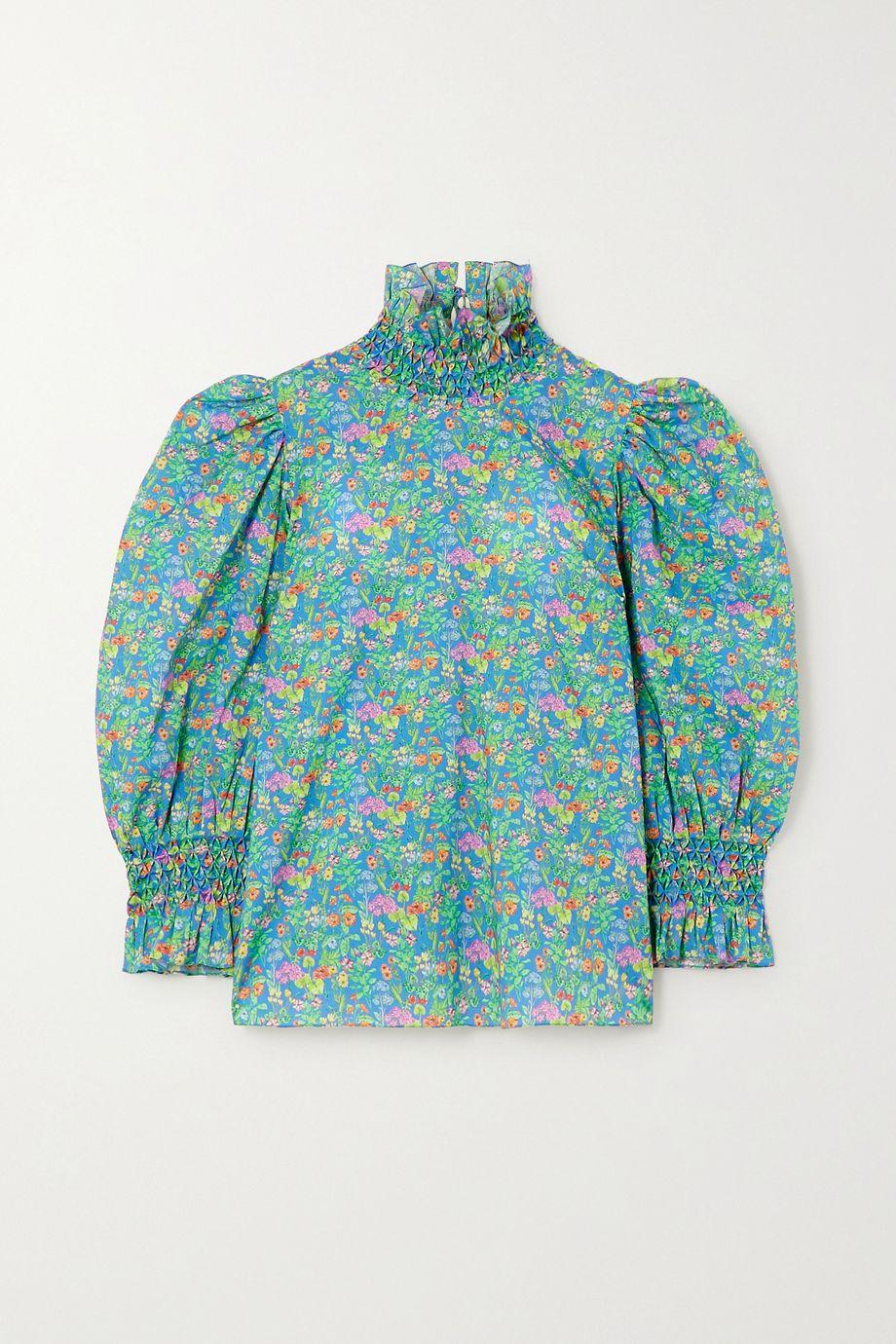Horror Vacui Collia floral-print cotton-poplin blouse