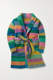 The Elder Statesman Kids Ages 2 - 12 striped cashmere robe