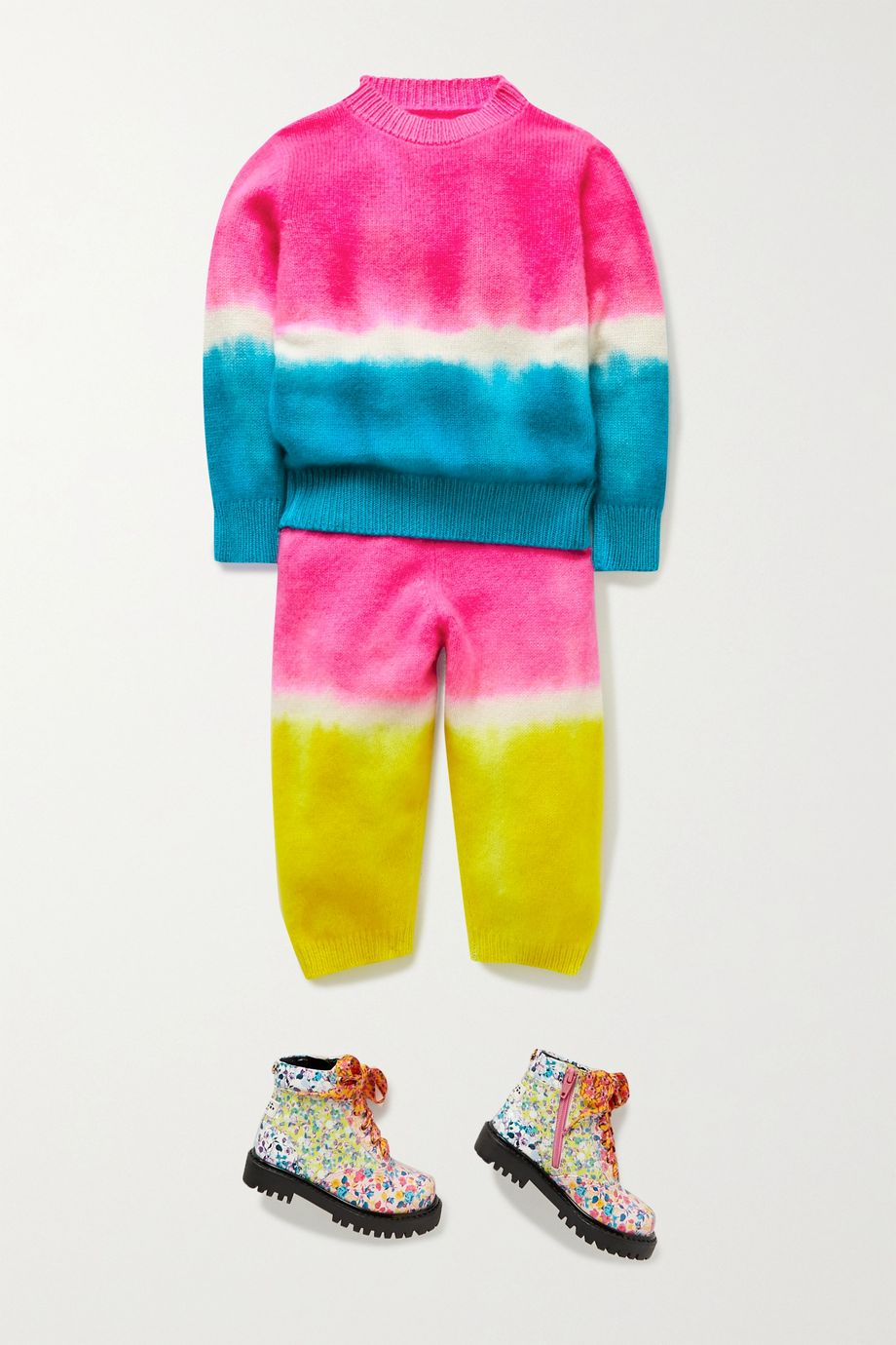 The Elder Statesman Kids Tie-dyed cashmere sweater