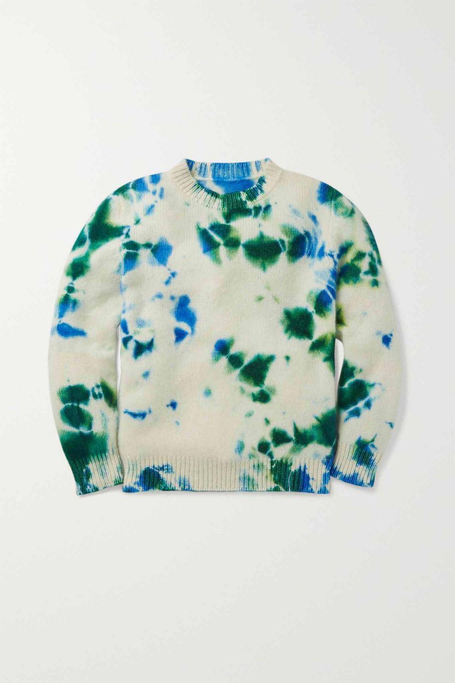The Elder Statesman Kids Tie-dyed cashmere sweater