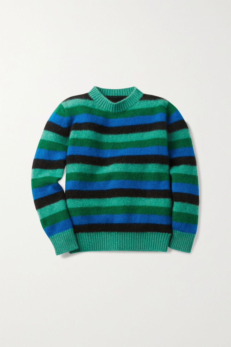 The Elder Statesman Kids Striped cashmere sweater