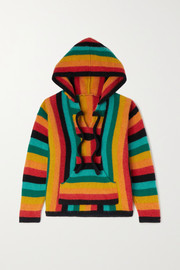 The Elder Statesman Kids Ages 2 - 10 Baja striped cashmere hoodie
