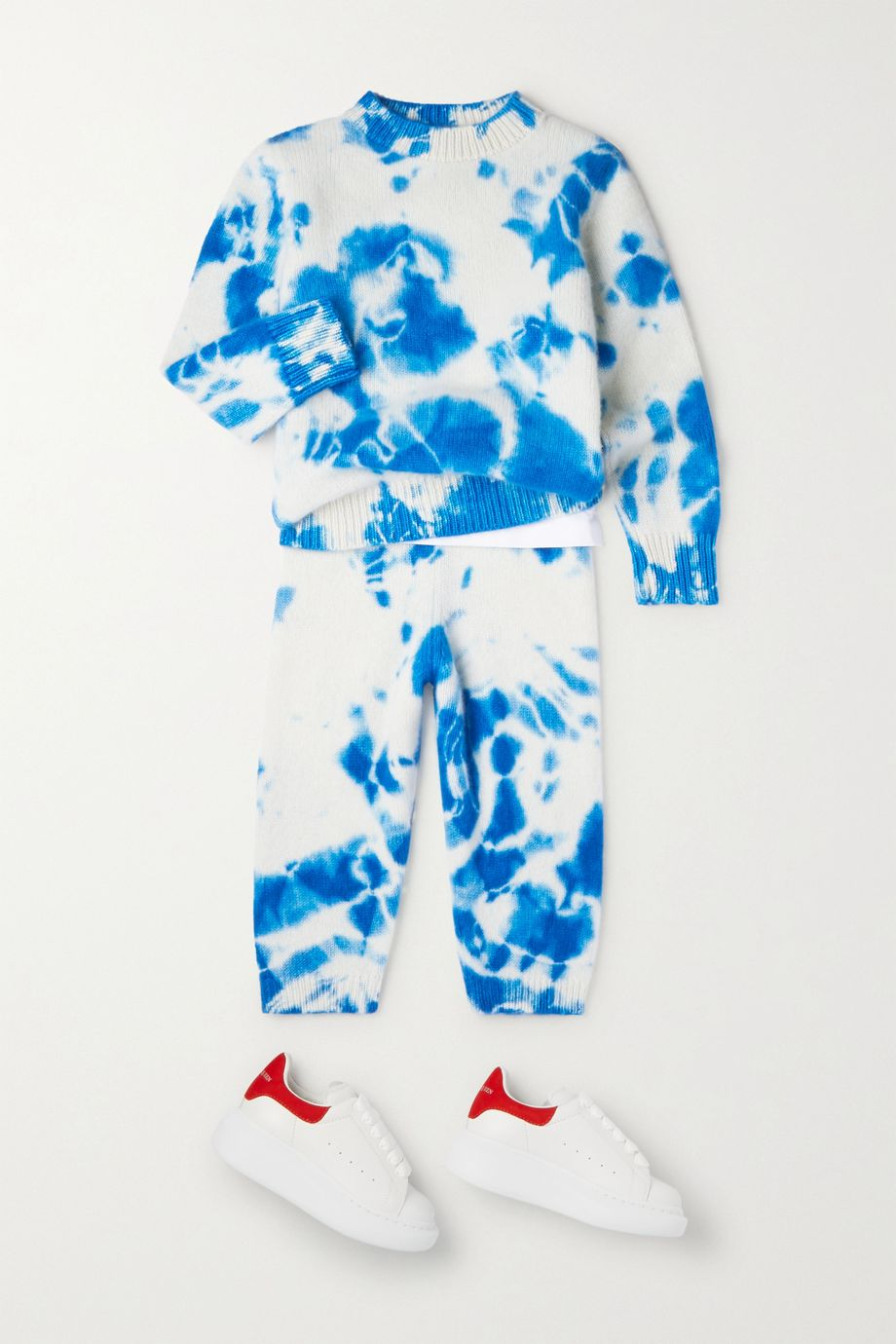 The Elder Statesman Kids Ages 2 - 10 tie-dyed cashmere pants