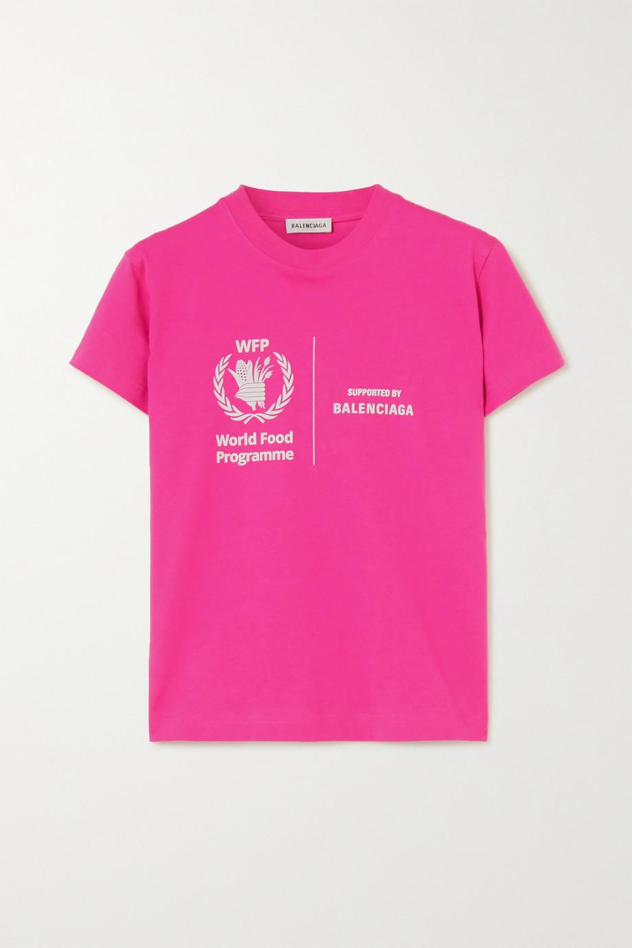 Balenciaga + World Food Programme printed cotton-jersey T-shirt